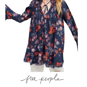 Free People So Fine Floral Tunic Top